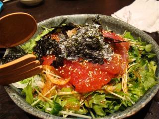 マグロのピリ辛サラダ