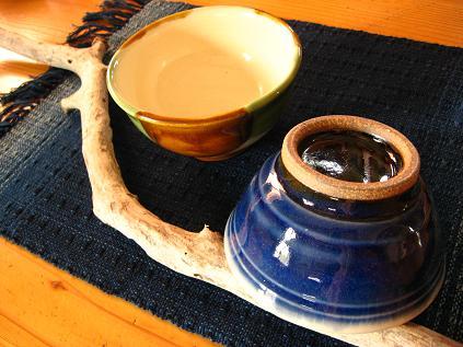 流木と出西の茶碗