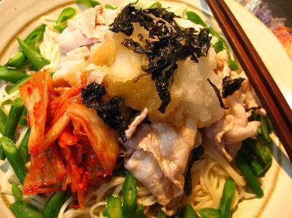 豚冷しゃぶのせ素麺