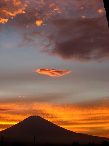 富士の夕景