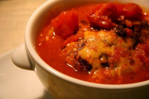 トマトソースはんばーぐ