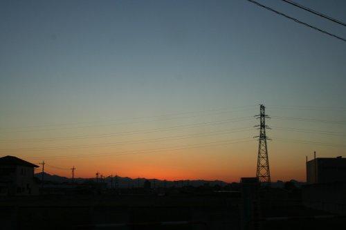 おしとやかな夕陽でした。