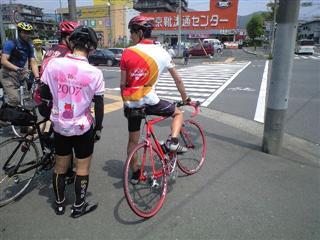 C隊の隊長殿。かっこいいですね~ウエアと自転車と本人。