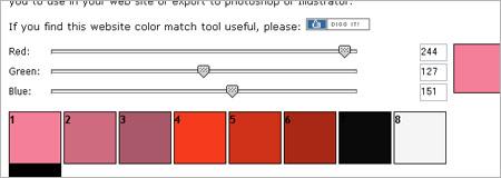 指定した色の配色パターンジェネレータ