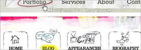 webナビゲーションの見本