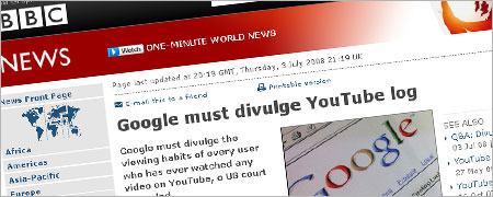 Google must divulge YouTube log