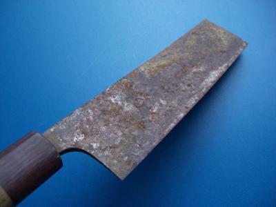 修理前:菜切り包丁(刃の表)