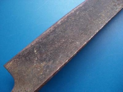 修理前:菜切り包丁(刃の裏)