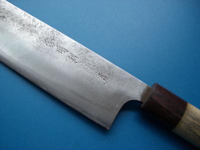 修理後:菜切り包丁(刃の裏)