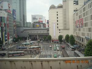 首都高速3号渋谷線から見た渋谷駅