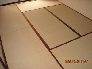 クッションフロア張替前の畳