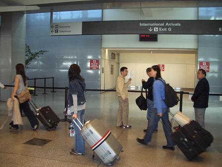 サンフランシスコ空港に到着