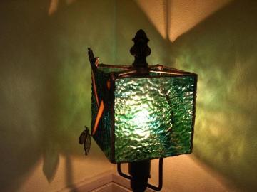 森のランプ点灯横