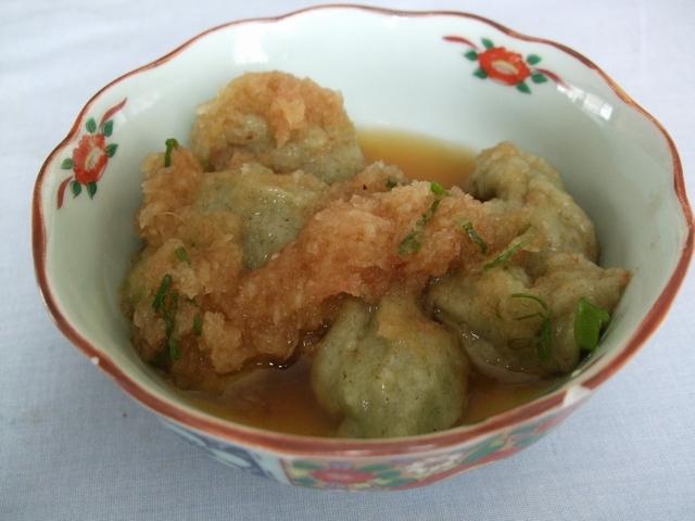 よもぎ餅with大根おろし+葱+醤油