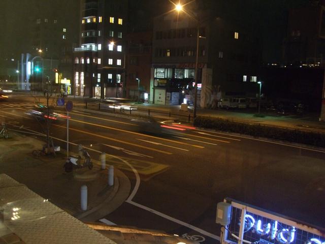coffeeマド 窓からの風景(夜)