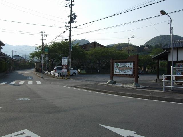 関宿観光駐車場周りの道