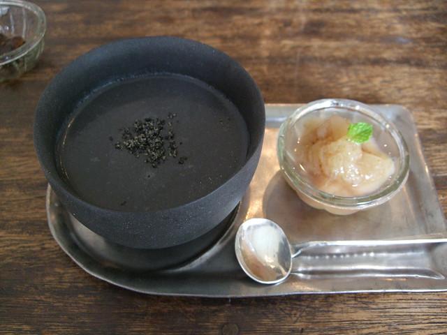 cafetomiyama黒胡麻プリン