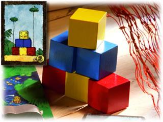お宝よーいドン!:ブロック建設