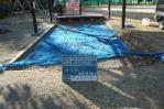 幼稚園、砂場清掃、掃除