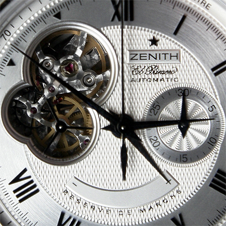 ZENITH クロノマスターXXTオープン 文字盤アップ
